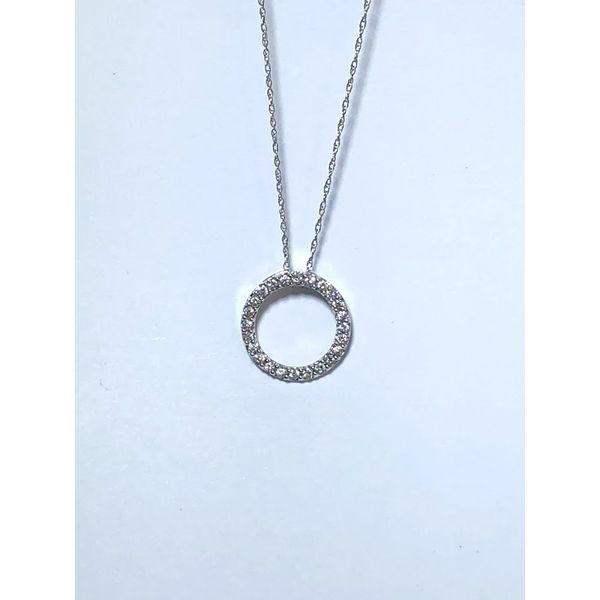 Diamond Circle Pendant Jerald Jewelers Latrobe, PA