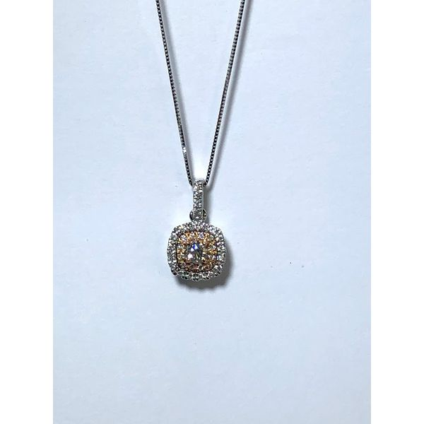Diamond Halo pendant Jerald Jewelers Latrobe, PA