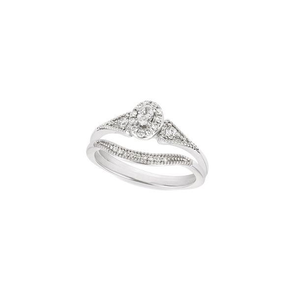 Vintage Oval Diamond Ring Set Jerald Jewelers Latrobe, PA