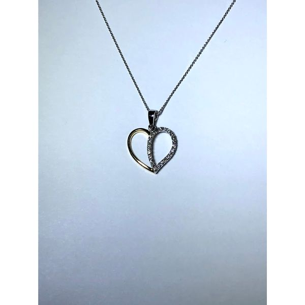 14k tt Diamond Heart pendant Jerald Jewelers Latrobe, PA