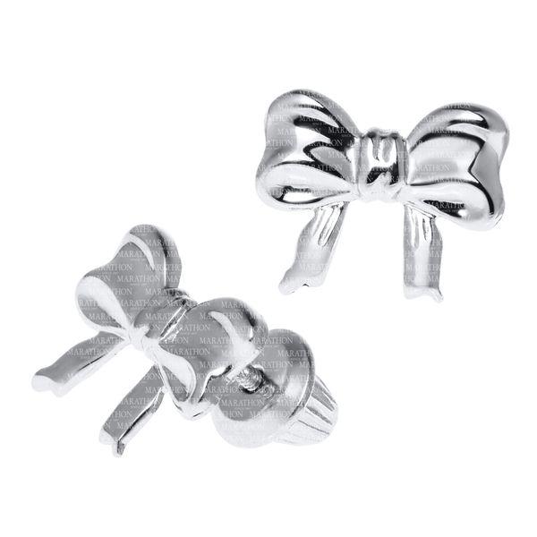 STERLING BOW KNOT EARRING Image 2 Jerald Jewelers Latrobe, PA