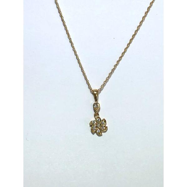 Diamond Flower Drop Pendant Jerald Jewelers Latrobe, PA