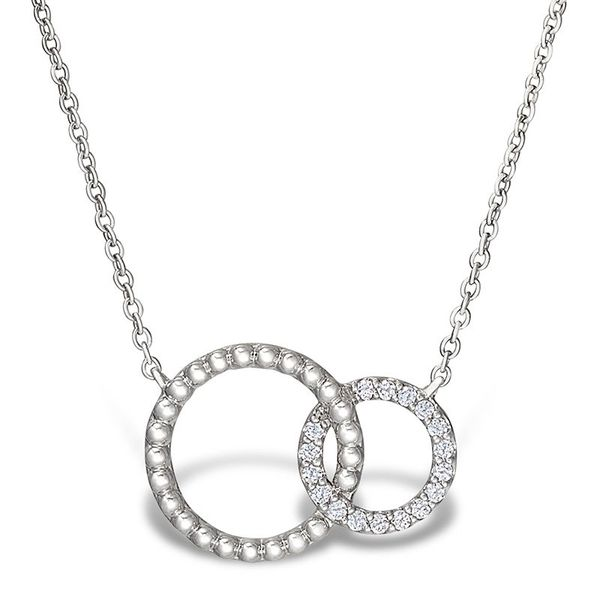 white gold, linked circles necklace Jerald Jewelers Latrobe, PA