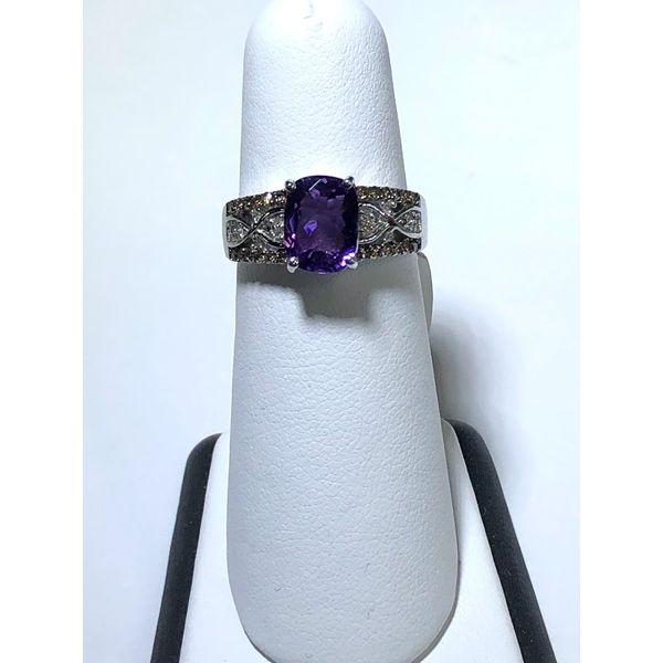 Amethyst and Diamond Ring Jerald Jewelers Latrobe, PA