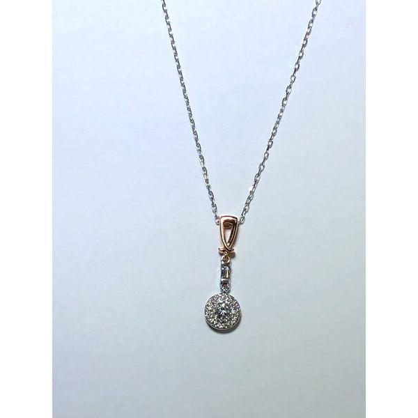 Diamond Halo drop pendant Jerald Jewelers Latrobe, PA