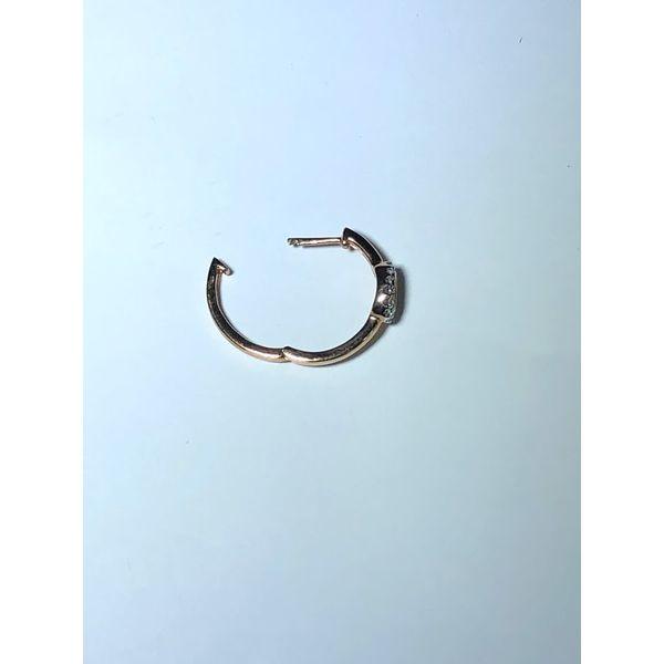 10k rg Diamond Hoop earrings Image 3 Jerald Jewelers Latrobe, PA