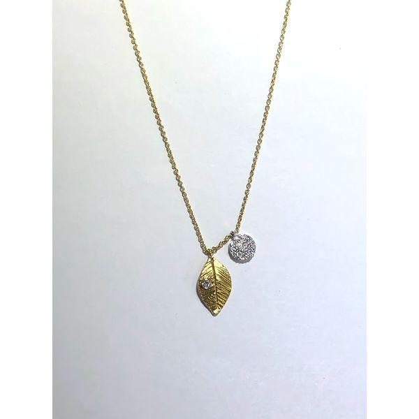 Leaf and Cluster Drop Necklace Jerald Jewelers Latrobe, PA