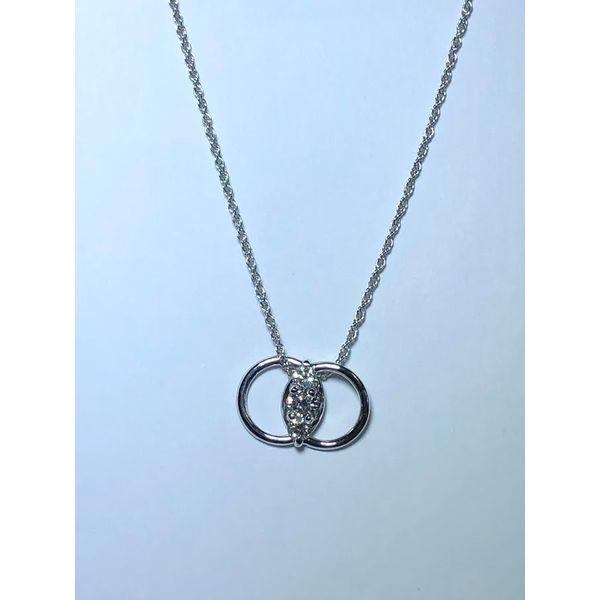 14kt WG Marriage Symbol Diamond Pendant Jerald Jewelers Latrobe, PA