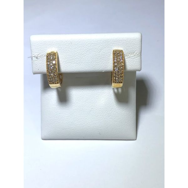 14kt yg Pave hoop earrings Jerald Jewelers Latrobe, PA