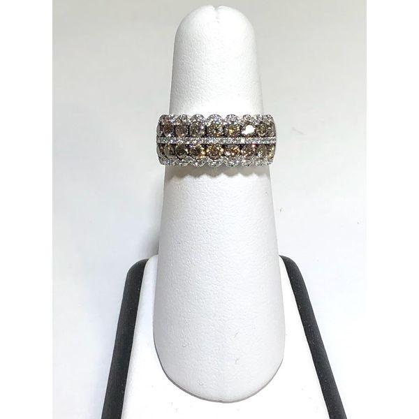 Chocolate and White Diamond Band Jerald Jewelers Latrobe, PA
