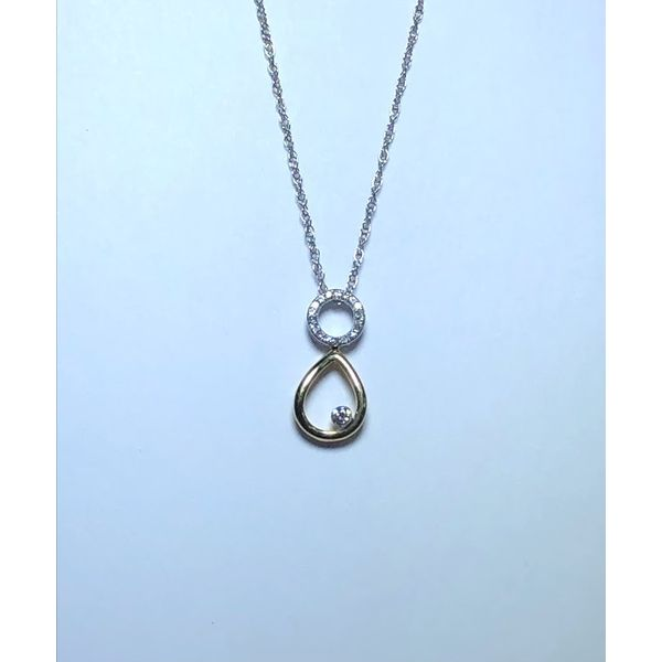 14k TT Diamond Drop pendant Jerald Jewelers Latrobe, PA