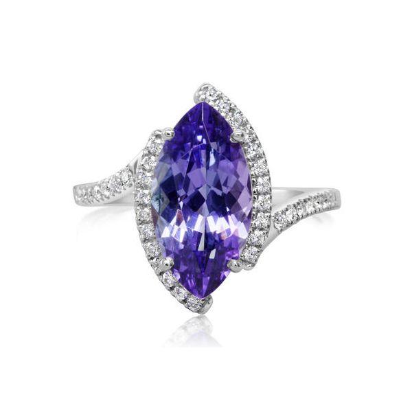 PEACOCK TANZANITE/DIAMOND RING  Jerald Jewelers Latrobe, PA