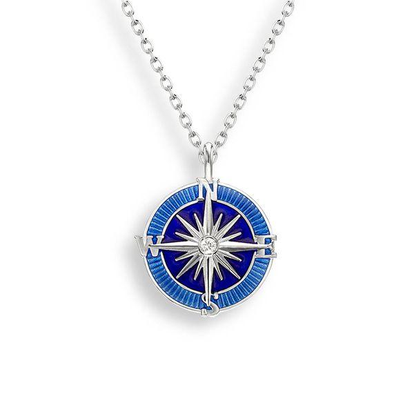 BLUE COMPASS ROSE NECKLACE Jerald Jewelers Latrobe, PA