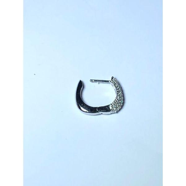 14kt Pave Round Diamond Hoops Image 2 Jerald Jewelers Latrobe, PA