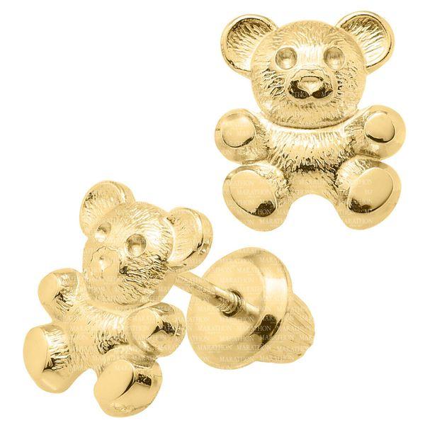 14K CHILDRENS GOLD SAFETY EARRING Image 2 Jerald Jewelers Latrobe, PA