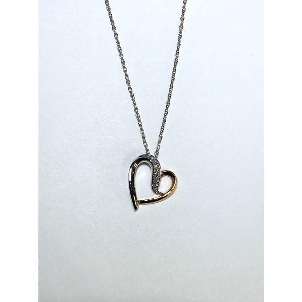 14k tt open heart pendant Jerald Jewelers Latrobe, PA
