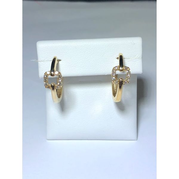 10kt yg Diamond Hoops Jerald Jewelers Latrobe, PA