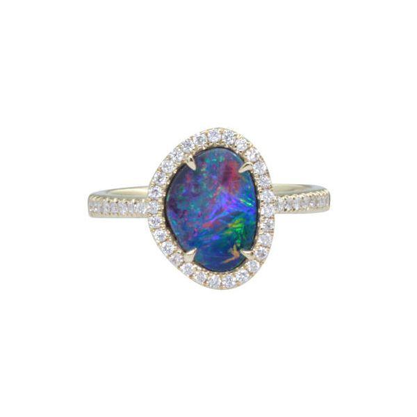AUSTRALIAN OPAL/DIAMOND RING Jerald Jewelers Latrobe, PA
