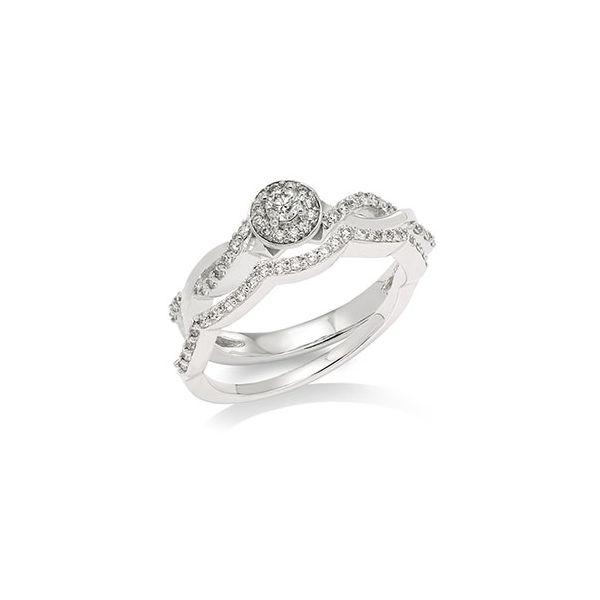 Round Halo twist engagement set Jerald Jewelers Latrobe, PA