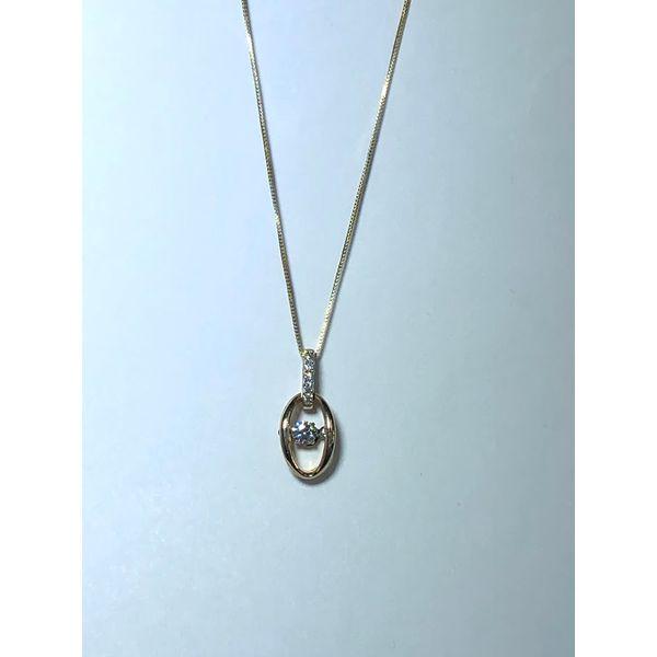 10KT YG Shimmering diamond pendant Jerald Jewelers Latrobe, PA