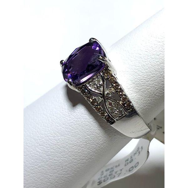 Amethyst and Diamond Ring Image 2 Jerald Jewelers Latrobe, PA