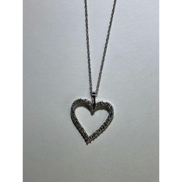 10kt wg Open Heart Diamond Pendant Jerald Jewelers Latrobe, PA
