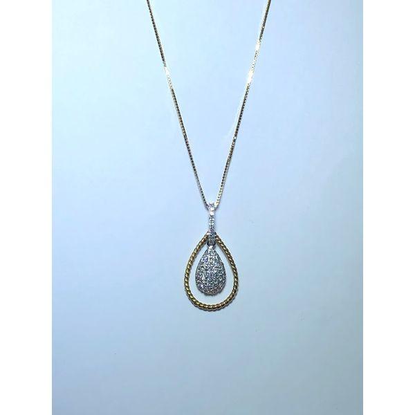 14kt Pave Diamond Pear Drop Pendant Jerald Jewelers Latrobe, PA