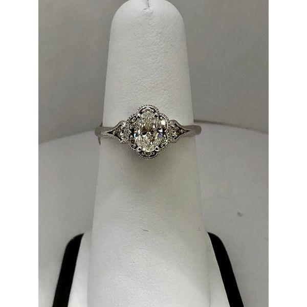 Oval Diamond Engagement Ring Jerald Jewelers Latrobe, PA