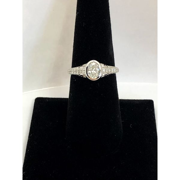 Oval Diamond Engagement Ring Jerald Jewelers Latrobe, PA