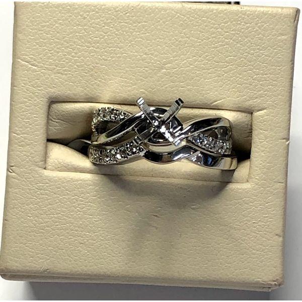 14kt WG Diamond Semi Mount Image 2 Jerald Jewelers Latrobe, PA