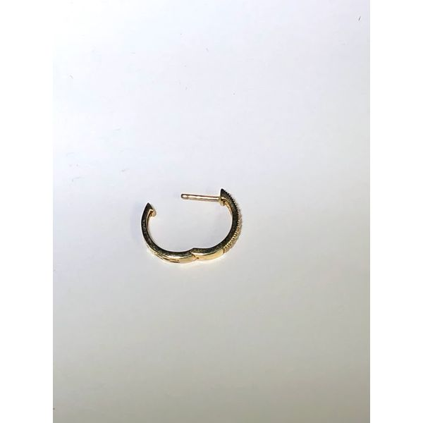 14kt yg Pave hoop earrings Image 3 Jerald Jewelers Latrobe, PA