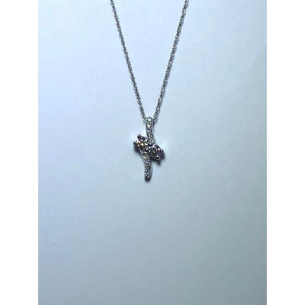 14kt WG Diamond Duo bypass pendant Jerald Jewelers Latrobe, PA