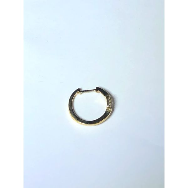 10kt yg Diamond Hoops Image 2 Jerald Jewelers Latrobe, PA
