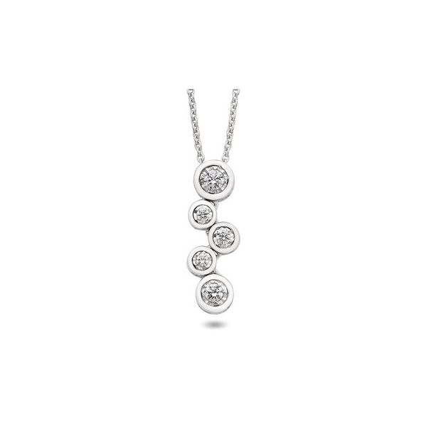 White gold & diamond drops necklace Jerald Jewelers Latrobe, PA