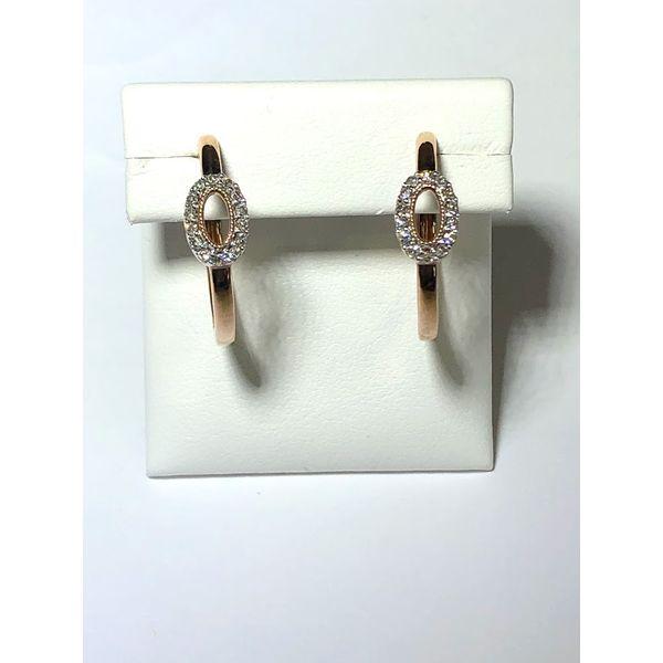 10k rg Diamond Hoop earrings Jerald Jewelers Latrobe, PA