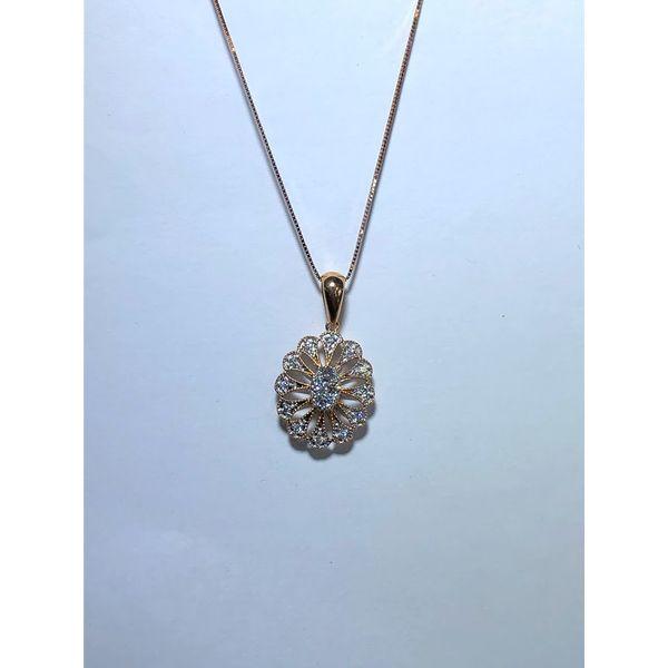 Rose gold Diamond Floral pendant Jerald Jewelers Latrobe, PA