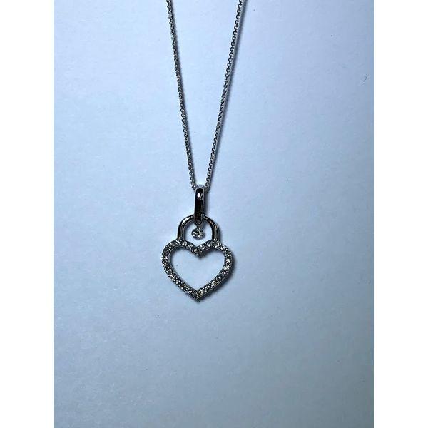 14kt wg Open heart with Shimmering diamond Jerald Jewelers Latrobe, PA