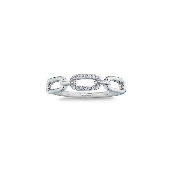 White gold paper clip ring Jerald Jewelers Latrobe, PA