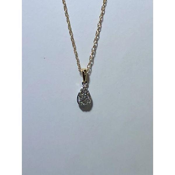 14kt Pear shaped Diamond cluster pendant Jerald Jewelers Latrobe, PA