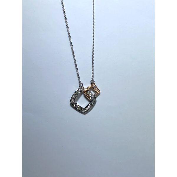 Open Square Diamond Necklace Jerald Jewelers Latrobe, PA