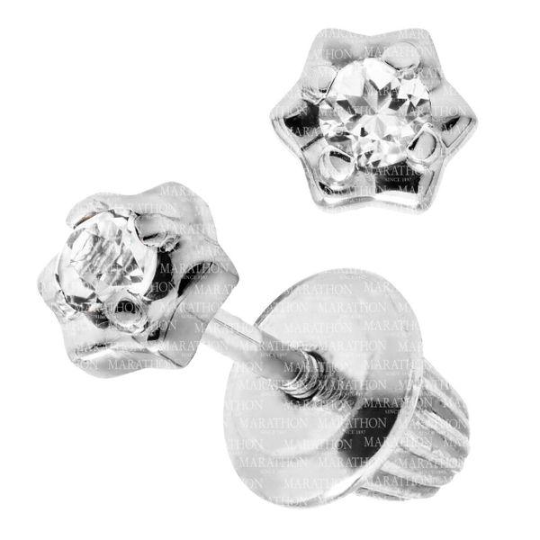 SS CHILDRENS DIAMOND STUD EARG-.06TCW Image 2 Jerald Jewelers Latrobe, PA