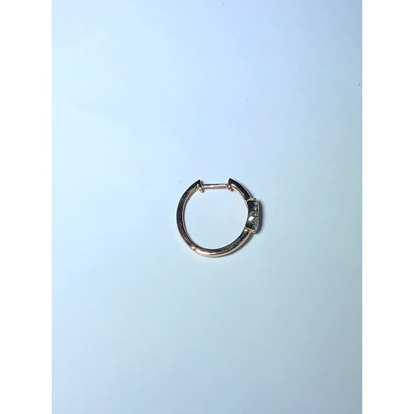 10k rg Diamond Hoop earrings Image 2 Jerald Jewelers Latrobe, PA