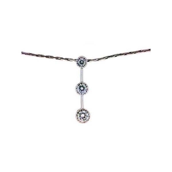 Three stone Diamond Pendant Jerald Jewelers Latrobe, PA