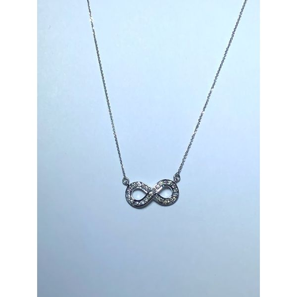 14kt wg Diamond Infinity necklace Jerald Jewelers Latrobe, PA