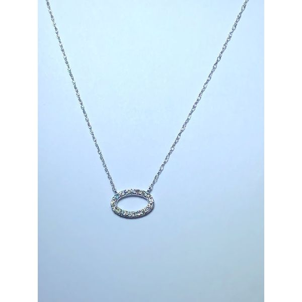 14kt wg Oval diamond pendant Jerald Jewelers Latrobe, PA