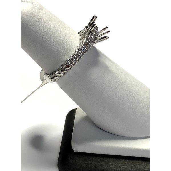 14kt WG Vintage Diamond Semi Mount Image 3 Jerald Jewelers Latrobe, PA