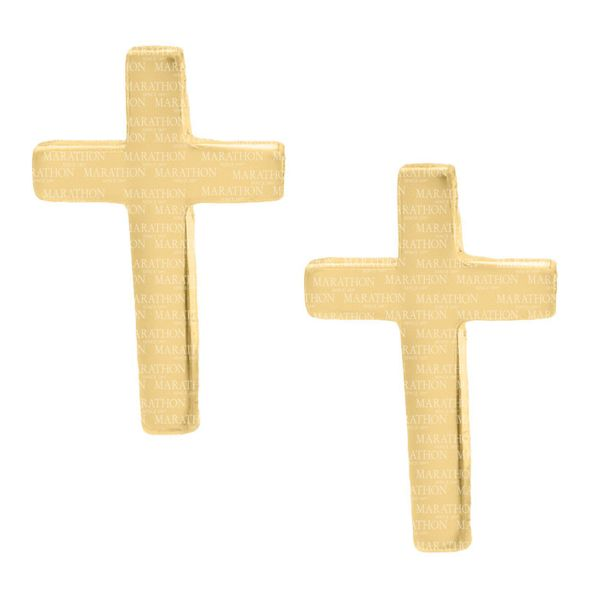 CHILDRENS 14K GF CROSS EARRINGS Jerald Jewelers Latrobe, PA