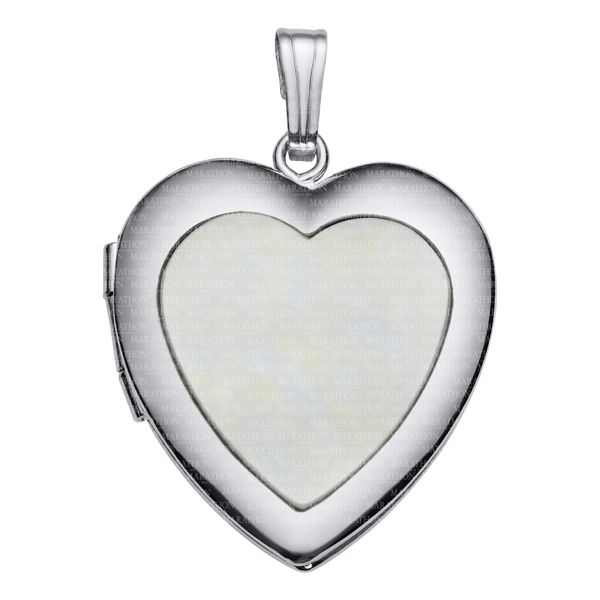 ADULT SS HEART LOCKET – MOP Jerald Jewelers Latrobe, PA