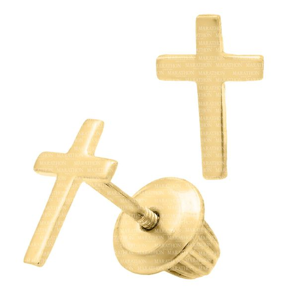CHILDRENS 14K GF CROSS EARRINGS Image 2 Jerald Jewelers Latrobe, PA