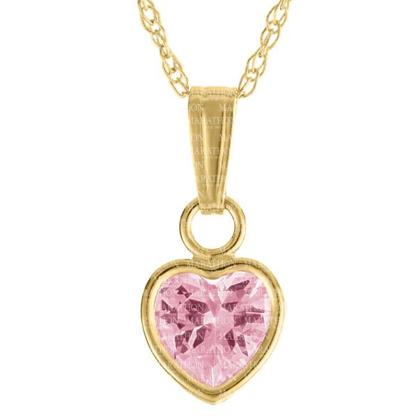 14K PINK HEART CZ PENDANT Jerald Jewelers Latrobe, PA